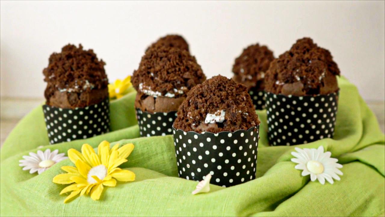 vegane Maulwurshügel-Cupcakes